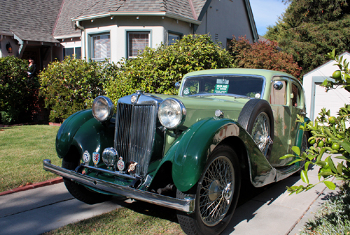 A 1939 MG VA Sport Saloon in Martinez, CA