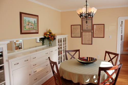 Dining room of a Storybook House on The Martinez Home Tour