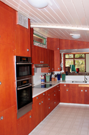 A kitchen update in a Frank Lloyd Wright Inspired Ranch House on the Martinez Home Tour