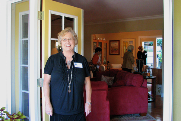 Kathy Braun welcomes visitors to her home.