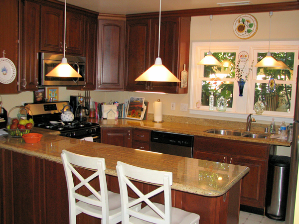 An upated kitchen in a Martinez (Calif.) home.