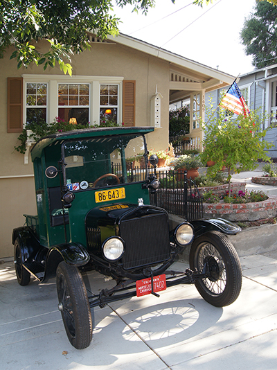 A Model T Ford which participated in an Historic Home Tour in Martinez, CA.