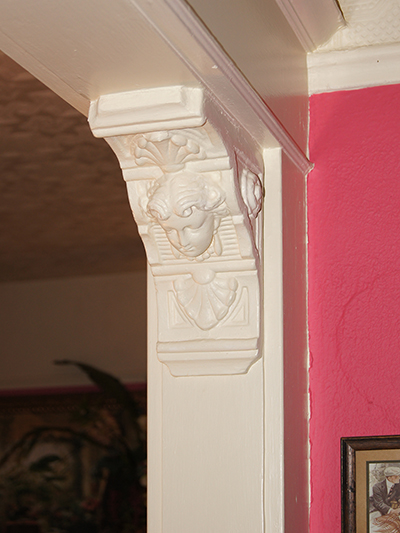 Decorative corbels in a Martinez, CA home.