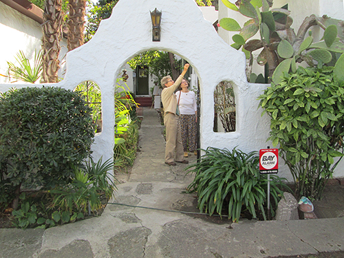 This is the patio of a beautiful Spanish Revival Home in the town of Martinez, CA.