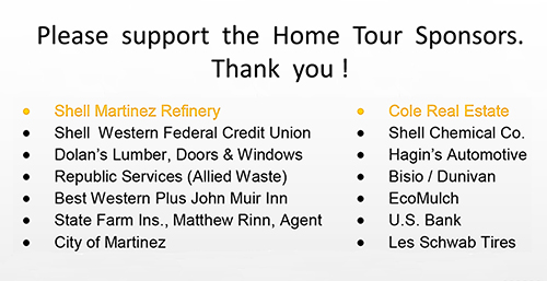 Sponsors for the 2014 Martinez Home Tour