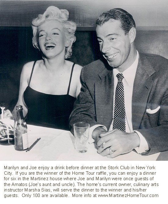 Marilyn Monroe and Joe DiMaggio at the Stork Club in New York City.