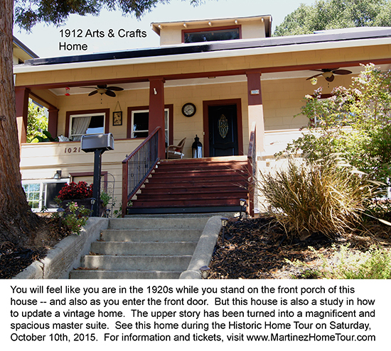 This is a lovely Arts & Crafts home in Martinez, CA.