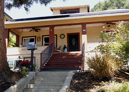 This Arts & Crafts home is located in Martinez, California.